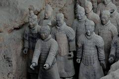 羡中国赤土陶器军队战士马 免版税图库摄影