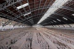 羡中国赤土陶器军队没有战士的马 1个坑 免版税库存图片