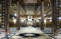 羡清真大寺的祷告大厅  免版税图库摄影
