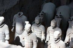 羡,中国- 6月13 :秦始皇兵马俑或 库存图片