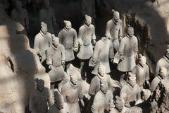 羡,中国- 6月13 :秦始皇兵马俑或 免版税库存图片