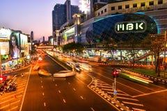 群侨商业中心在晚上 免版税库存照片