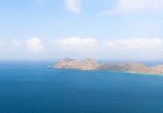 群岛从飞机的Los Roques 库存图片