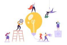 群策群力概念的创造性的想法 事务 皇族释放例证