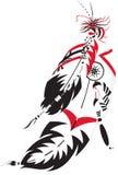 羽毛印地安人 免版税图库摄影