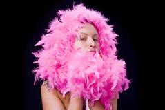 羽毛夫人粉红色 库存照片
