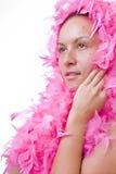 羽毛夫人粉红色 图库摄影