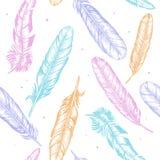 羽毛手凹道剪影背景样式 向量 库存图片