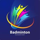 羽毛球体育比赛事件 免版税库存照片