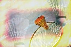 羽毛球作用 免版税库存图片