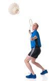 羽毛球使用 库存图片