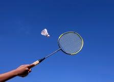 羽毛球拍 库存图片