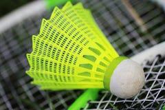羽毛球比赛的Shuttlecock 免版税图库摄影