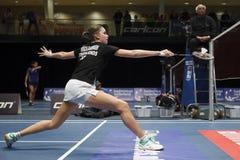 羽毛球球员梭拉育de Visch Eijbergen 免版税图库摄影
