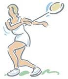 羽毛球球员 免版税库存照片