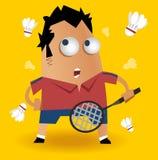 羽毛球球员 库存图片
