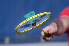 羽毛球球拍 免版税库存照片