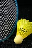 羽毛球设备 免版税库存照片