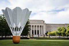 羽毛球shuttlecock艺术 库存图片