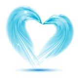 从羽毛的心脏在白色背景 免版税库存照片
