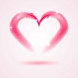 从羽毛的心脏在白色背景 图库摄影