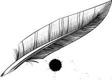 羽毛笔吸墨纸 库存照片
