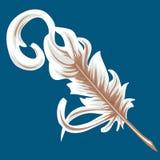 羽毛纤管 皇族释放例证
