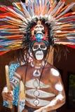 羽毛顶头玛雅装饰传统 免版税库存照片
