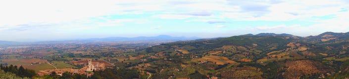 翁布里亚的全景在意大利 库存照片