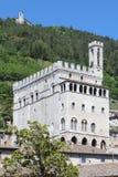 翁布里亚Palazzo dei的Consoli古比奥 库存照片