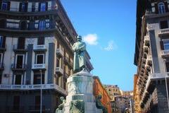 翁贝托雕象我在那不勒斯,意大利 免版税库存图片