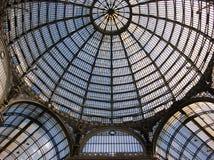 翁贝托我画廊在那不勒斯,意大利 免版税图库摄影