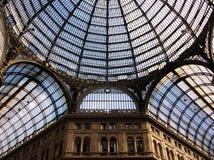 翁贝托我画廊在那不勒斯,意大利 库存图片