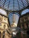 翁贝托我画廊在那不勒斯,意大利 库存照片