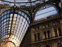 翁贝托我画廊在那不勒斯,意大利 图库摄影