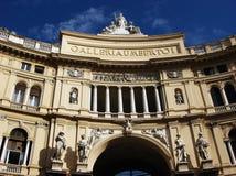 翁贝托我画廊在那不勒斯,意大利 免版税库存图片