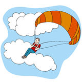 滑翔伞人 库存照片