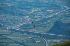 滑翔伞, 免版税库存图片