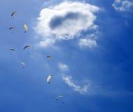 滑翔伞滑动 库存照片
