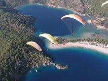 滑翔伞Oludeniz 库存图片