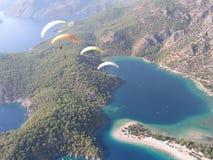 滑翔伞Oludeniz 图库摄影