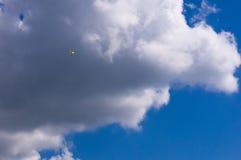 滑翔机,天空,云彩 库存照片