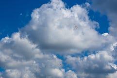 滑翔机,天空,云彩 免版税库存照片
