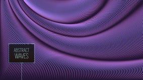 翘曲的传染媒介排行背景 作为丝绸被扭转的灵活的条纹形成容量折叠 库存图片