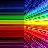翘曲的抽象彩虹镶边背景 免版税图库摄影