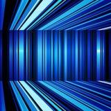 翘曲的抽象蓝色和白色镶边背景 免版税库存照片