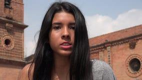 翻倒和恼怒的青少年的女孩 免版税库存图片