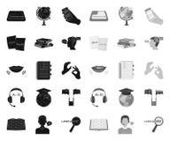 翻译和语言学家黑色 在集合收藏的单音象的设计 口译员传染媒介标志股票网例证 皇族释放例证