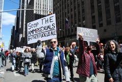 翻转鸟,枪枝管制3月我们的生活,抗议, NYC, NY,美国 图库摄影