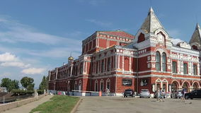 翼果的戏曲剧院在俄罗斯 股票视频